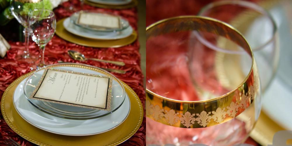 Victoria Wedding Decorator Red Table Setting
