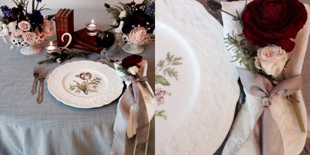 Victoria Wedding Decorator White Table Setting